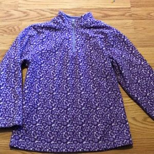Hanna andersson fleece in purple leopard print